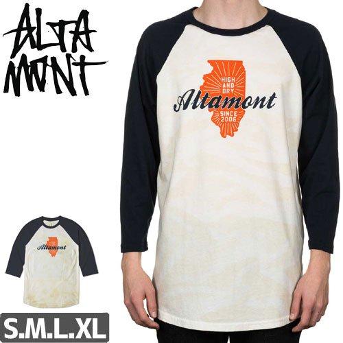 【オルタモント ALTAMONT スケボー Tシャツ】HIGH AND DRY SKATE 3/4 RAGLAN 7分 TEE NO56