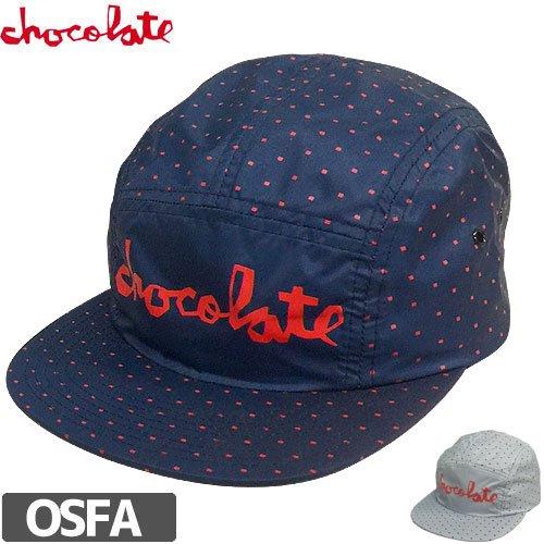 【チョコレート CHOCOLATE スケボー キャップ】SQUARE PATTERN 5PANEL NO69