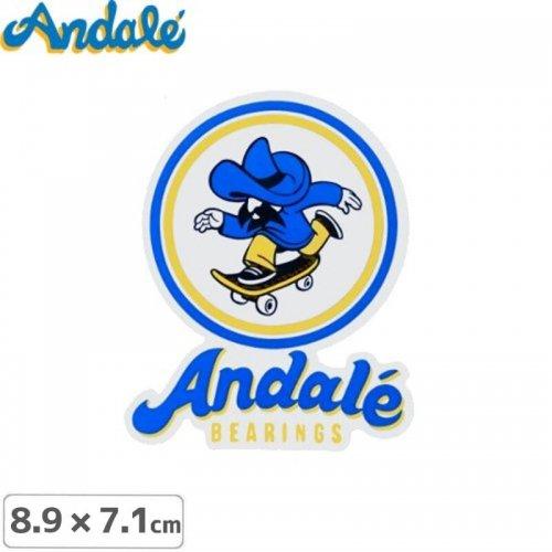【アンデール ANDAL スケボー ステッカー】ANDAL STICKER【8.9cm x 7.1cm】NO1
