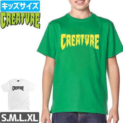 【CREATURE クリーチャー キッズ Tシャツ】SHREDDED YOUTH TEE【ユースサイズ】NO7