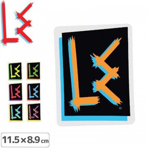 【エルイー LE スケボー ステッカー】OG LOGO【11.5cm x 8.9cm】【7色】NO27