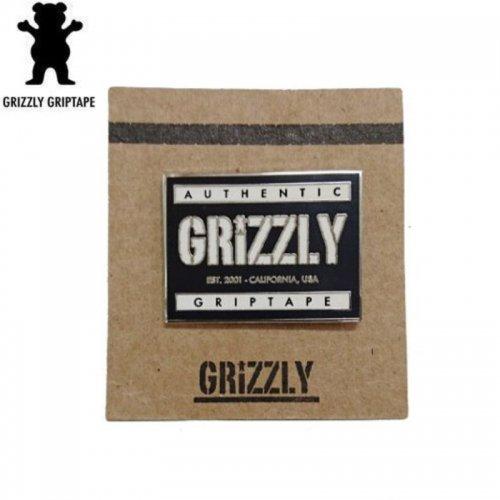 【グリズリー GRIZZLY スケボー ピンバッチ】AUTHENTIC【2.5cm x 3.3cm】NO1