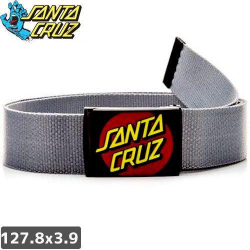 【サンタクルーズ SANTA CRUZ ベルト】CLASSIC WEB BELT【グレー】NO04