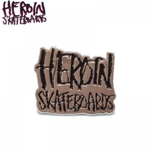 【HEROIN ヘロイン スケボー ピンバッチ】SCRIPT LAPEL【2.2cm x 2.7cm】NO1