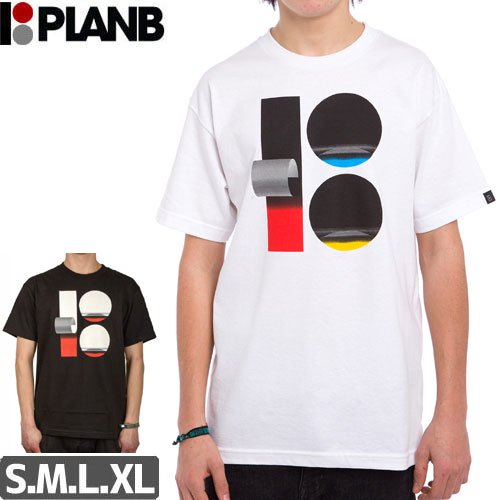 【プランビー PLAN-B スケボーTシャツ】WRAP TEE【ブラック】【ホワイト】NO22