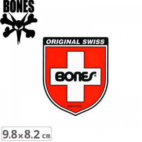 【ボーンズ BONES スケボー ステッカー】SWISS SHIELD【9.8cm x 8.2cm】NO41
