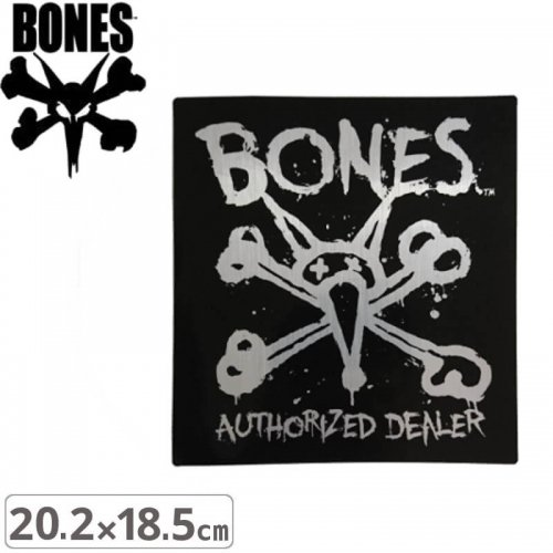 【ボーンズ BONES スケボー ステッカー】AUTHORIZED【20.2cm x 18.5cm】NO43