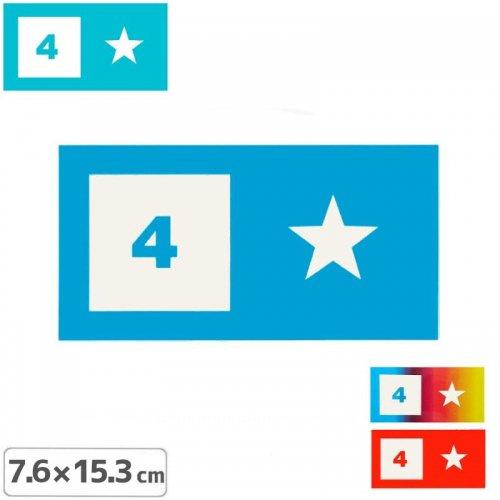 【FOURSTAR フォースター Sticker ステッカー】BAR LOGO【3色】【7.6cm x 15.3cm】NO8