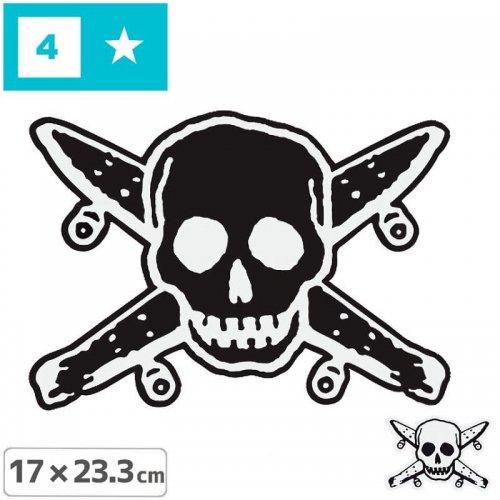 【FOURSTAR フォースター Sticker ステッカー】PIRATE【2色】【17cm x 23.3cm】NO11