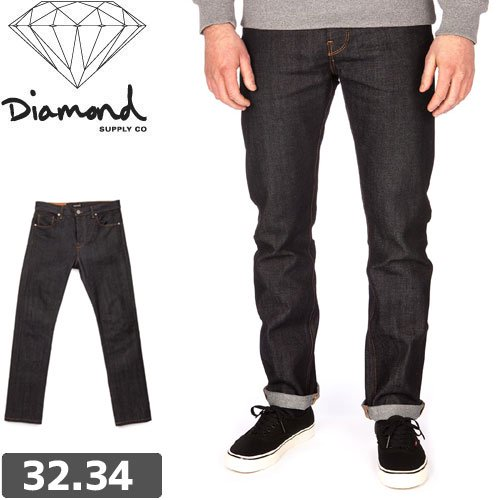 【ダイヤモンド DIAMOND SUPPLY CO ジーンズ】MINED DENIM SKINNY FIT DARK WASHE デニム パンツ NO2