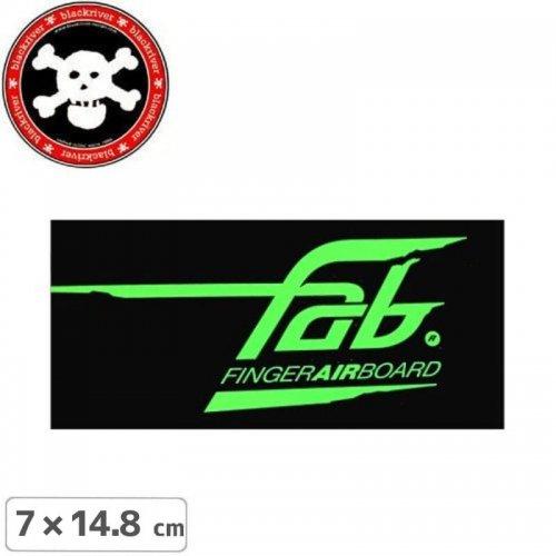 【BLACKRIVER 指スケ ステッカー】FAB FINGER AIR BOARD【7cm x 14.8cm】NO23