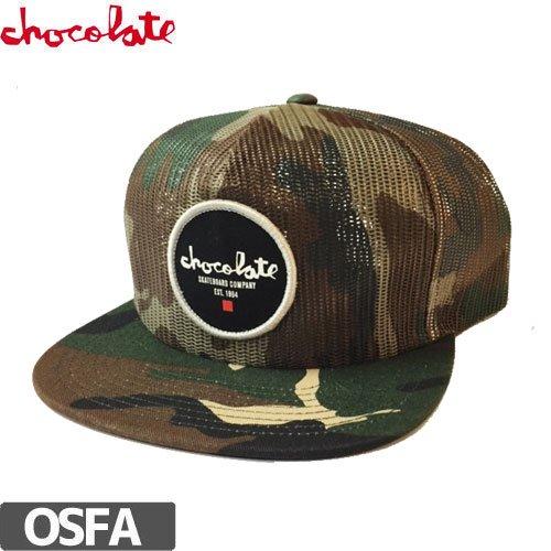 【チョコレート CHOCOLATE スケボー キャップ】CIRCLE EST. MESH TRUCKER HAT【迷彩 カモ】NO74
