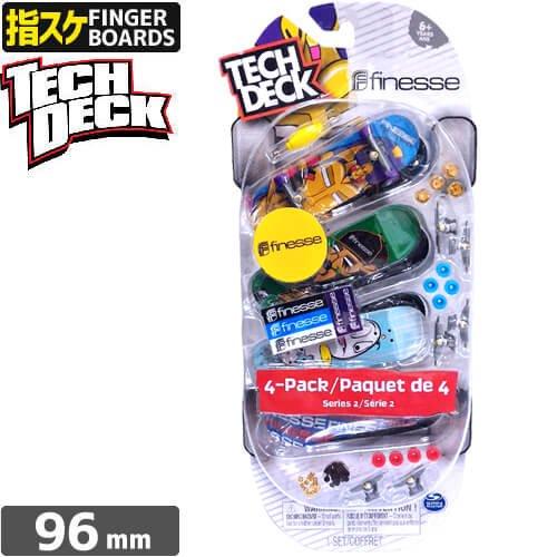 【指スケ TECH DECK テックデッキ】4PACK PAQUET DE 4 SERIES 96mm【FINESSE】NO4