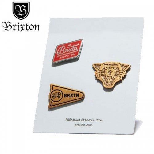 【BRIXTON ブリクストン ピンバッチ】FURY PIN PACK【3PAC】 NO02