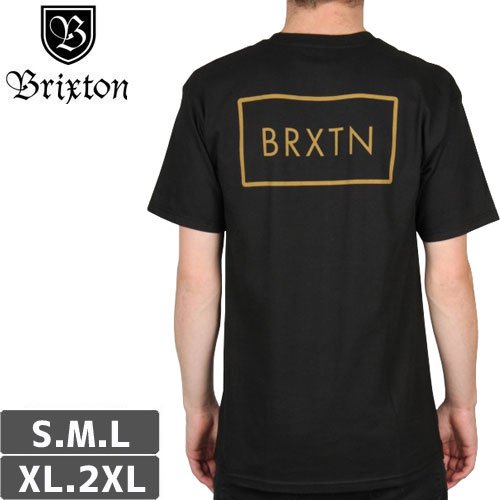 【BRIXTON ブリクストン スケボー Tシャツ】RIFT TEE【ブラック】NO9