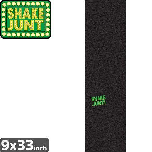 【シェイクジャント SHAKE JUNT スケボー デッキテープ】LOW KEY GRIP TAPE【ブラック x グリーン】NO18