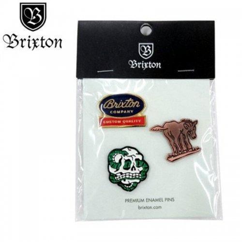 【BRIXTON ブリクストン ピンバッチ】ADIOS PIN PACK【3PAC】NO03
