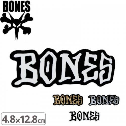 【ボーンズ BONES スケボー ステッカー】LOGO【4色】【4.8cm x 12.8cm】NO48