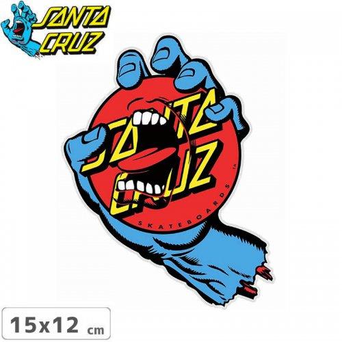 【サンタクルーズ SANTACRUZ スケボー ステッカー】SCREAMING DOT【15cm x 12cm】NO83