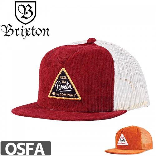 【BRIXTON スケボー キャップ】CUE MESH CAP【ブラウン】【バーガンディ】NO34