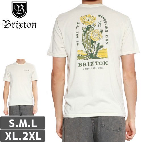 【BRIXTON ブリクストン スケボー Tシャツ】LONESOME SHORT SLEEVE PREMIUM TEE【ホワイト】NO14