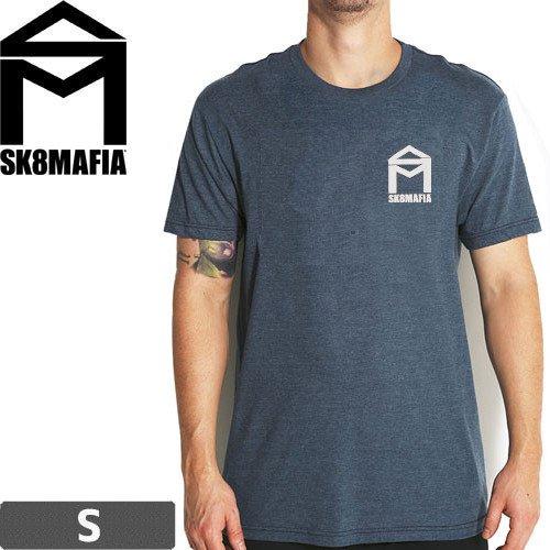 【スケートマフィア SK8MAFIA スケボー Tシャツ】HOUSE LOGO PREMIUM TEE【ネイビーヘザー】NO67 Sサイズ