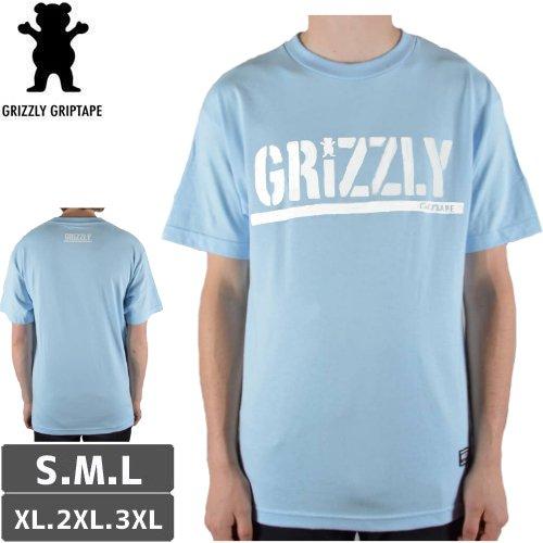【グリズリー GRIZZLY Tシャツ】OG STAMP LOGO BASIC TEE【パウダーブルー】NO40