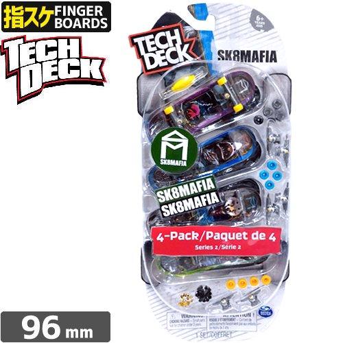 【TECH DECK 指スケ】96mm テックデッキ スケートマフィア スケボー 4PACK【SK8MAFIA】NO01