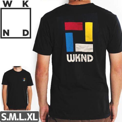 【ウィークエンド WKND スケボー Tシャツ】Composition Tee【ブラック】NO6