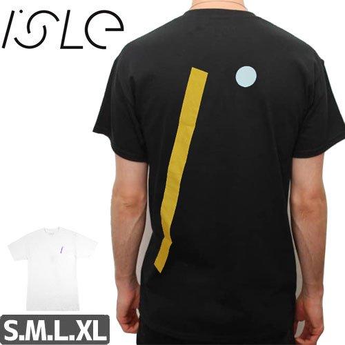 【ISLE アイル スケボー Tシャツ】I LOGO TEE【ブラック】【ホワイト】NO1