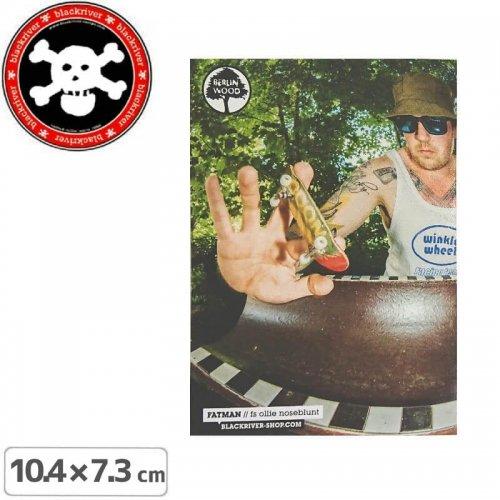 【BLACKRIVER 指スケ ステッカー】FATMAN STICKER【10.4cm x 7.3cm】NO24