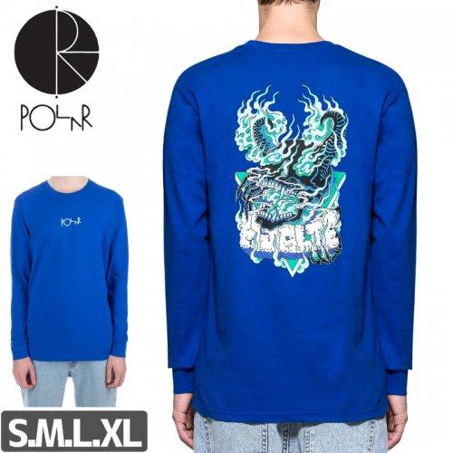 【POLAR ポーラー スケボー ロング Tシャツ】BEAST MODE L/S TEE【ブルー】NO8