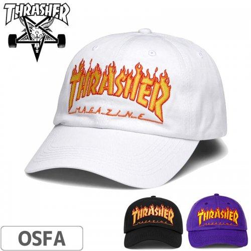 【スラッシャー THRASHER  キャップ】FLAME OLD TIMER CAP US規格【ブラック】【パープル】【ホワイト】NO35