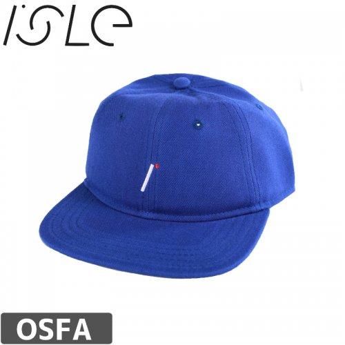 【ISLE アイル スケボー キャップ】LOGO ROYAL WOOL HAT【ブルー】NO3