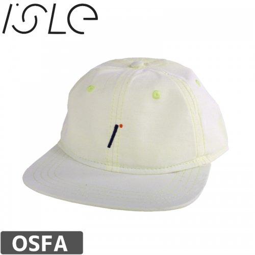 【ISLE アイル スケボー キャップ】LOGO COTTON HAT【クリーム】NO4