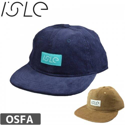 【ISLE アイル スケボー キャップ】CORDUROY SNAPBACK CAP【ネイビー】【ブラウン】NO5