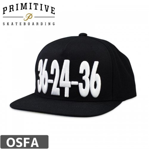 【PRIMITIVE プリミティブ スケボー キャップ】 LITTLE IN THE MIDDLE CAP【ブラック】NO6
