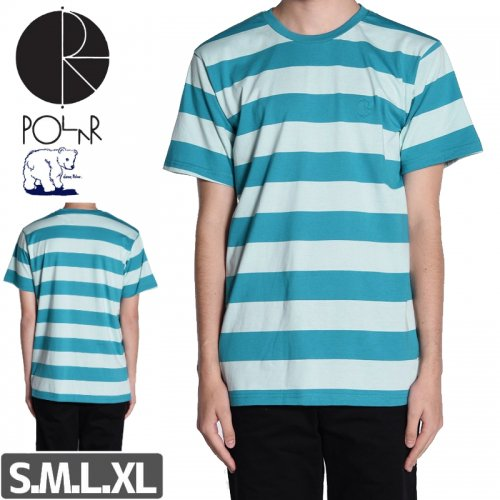 【POLAR ポーラー スケボー Tシャツ】POLAR X DEAR BLOCK STRIPE TEE NO9
