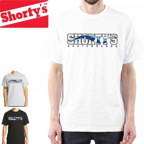【ショーティーズ SHORTY'S スケボー Tシャツ】Skate Block T-Shirt【ホワイト】【ブラック】【ヘザーグレー】NO45