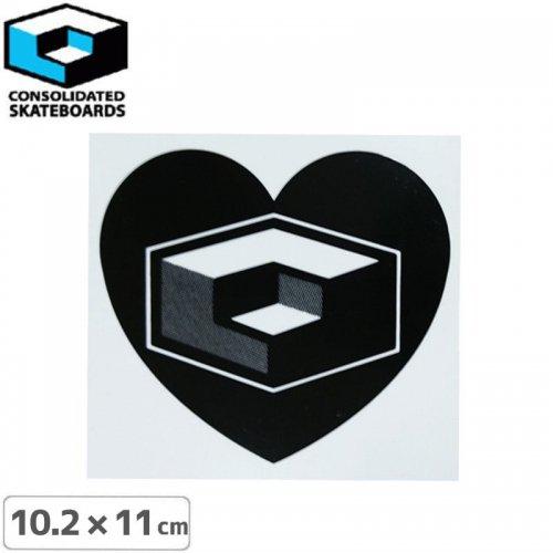 【CONSOLIDATED コンソリデーテッド スケボー ステッカー】HEART SHAPE【10.2cm x 11cm】NO55