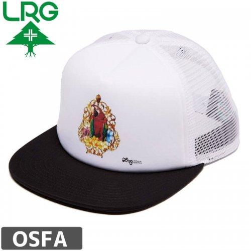 【LRG エルアールジー スケボー キャップ】SAY WHAT FOAM TRUCKER HAT【ブラック×ホワイト】NO13