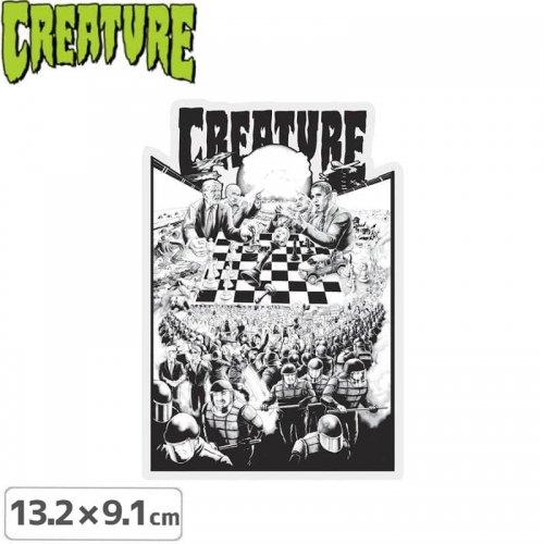 【クリーチャー CREATURE スケボー ステッカー】CHECKERBOARD【13.2cmx9.1cm】NO42