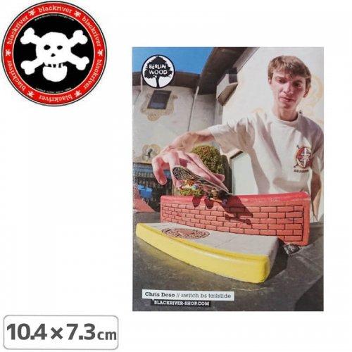 【BLACKRIVER 指スケ ステッカー】CHRIS DESO STICKER【10.4cm x 7.3cm】NO28
