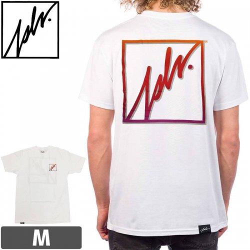 【ジャスリブ JSLV スケボー Tシャツ】GEEZER 3 GLITCH SELECT TEE【ホワイト】NO12