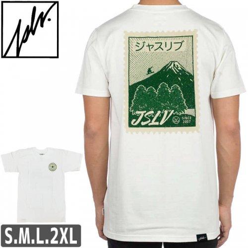【ジャスリブ JSLV スケボー Tシャツ】POSTAGE TEE【ホワイト】NO14