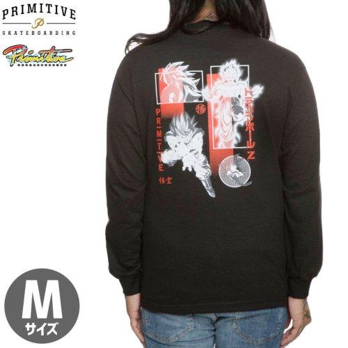 【PRIMITIVE プリミティブ スケボー ロング Tシャツ】DBZ COLLAGE L/S TEE ドラゴンボール【ブラック】 NO3