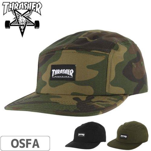 【スラッシャー THRASHER  キャップ】5-PANEL CAP US規格【3カラー】NO36