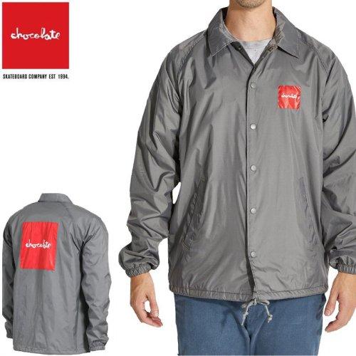 【チョコレート CHOCOLATE スケボー ジャケット】RED SQUARE COACH JACKET【グレー】NO2