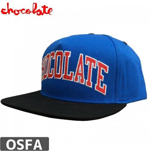【チョコレート CHOCOLATE スケボー キャップ】ARCHED LEAGUE SNAPBACK CAP【ブルー】NO78