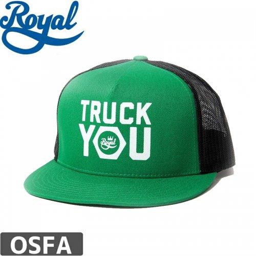【ロイヤル ROYAL TRUCKS スケボー キャップ】TRUCK YOU MESH TRUCKER HAT【グリーン】NO11